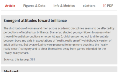 "Les attitudes émergentes face à l'intelligence / ""Emergent attitudes toward brilliance"""