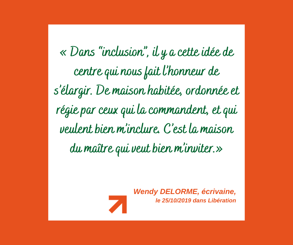 Citation de Wendy Delorme sur l'écriture inclusive